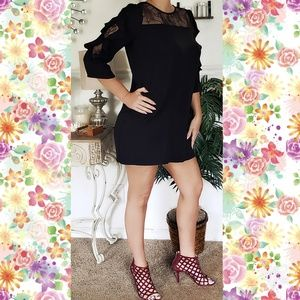 ZARA sz large lace black dress